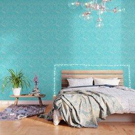 Robin Egg Blue Pattern Wallpaper