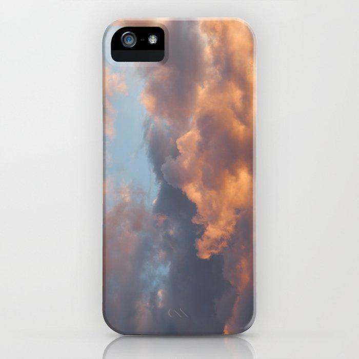 Peach Clouds iPhone Case