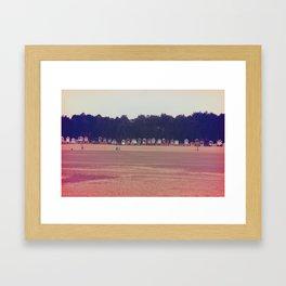 Beach Houses Framed Art Print
