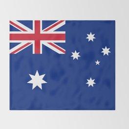 Australian flag, HQ image Throw Blanket