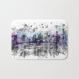 Modern Art NEW YORK CITY Skyline | Splashes Bath Mat