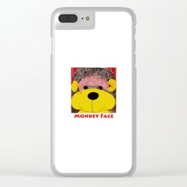 Monkey Face Clear iPhone Case