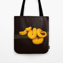 Golden eyelash viper Tote Bag