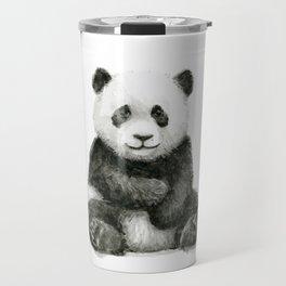 Panda Baby Watercolor Animal Art Travel Mug