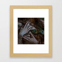 Wild Peacock Framed Art Print
