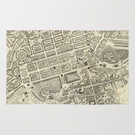 Vintage Map of Edinburgh Scotland (1844) Rug