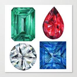 Precious Gems Canvas Print
