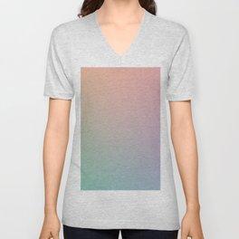 HOLOGRAPHIC - Minimal Plain Soft Mood Color Blend Prints Unisex V-Neck