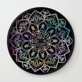 Scratchboard Mandala Wall Clock