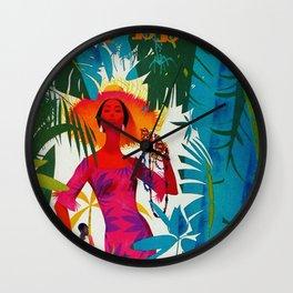Vintage Caribbean Travel - Cuba Wall Clock