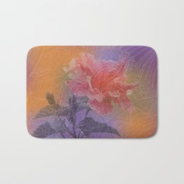 zen pattern hibiscus Bath Mat