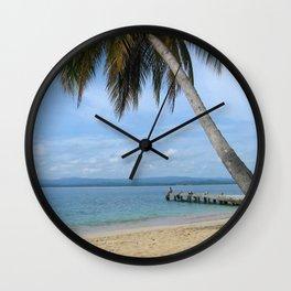 Isle of San Blas PANAMA - the Caribbeans Wall Clock