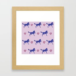 OLD ENGLISH HACKNEY HORSE Framed Art Print