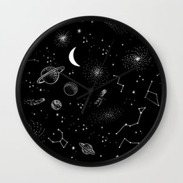 galactic pattern Wall Clock