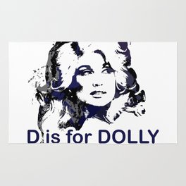 D is for Dolly Parton Rug