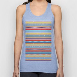 Multicolored lines and dots Unisex Tank Top
