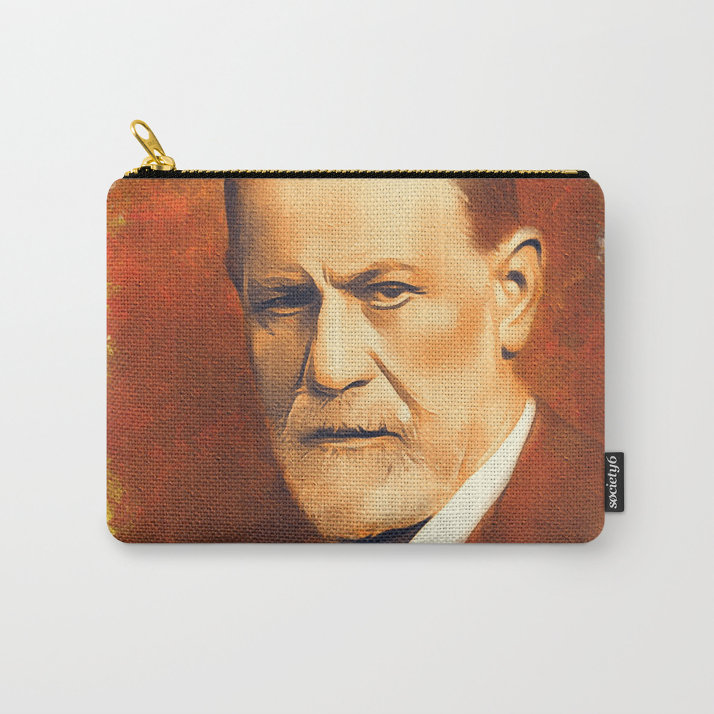 Sigmund Freud Carry-all Pouch by Esotericaartagency CAP8766408
