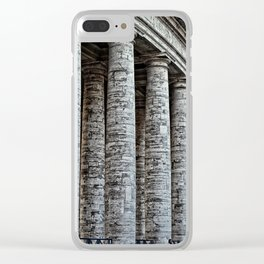 Vatican City Marble Clear iPhone Case
