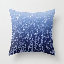 Aquatic Chords Throw Pillow