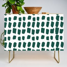 Green Abstract Paint Splotches Credenza