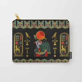 Egyptian Horus Ornament in colored glass and gold Carry-All Pouch