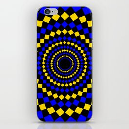 circular diamond pattern iPhone Skin