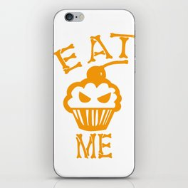 Eat me yellow version iPhone Skin