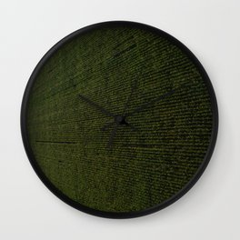 Rural Corn Fields Wall Clock