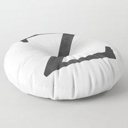 Letter Z Initial Monogram Black and White Floor Pillow