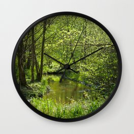Idyllic scenery Wall Clock