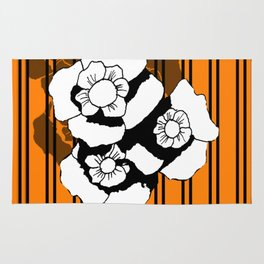 Flower and Stripes Rug
