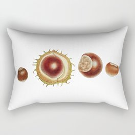 Nut and chesnut Rectangular Pillow