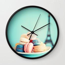 Paris and sweets Wall Clock