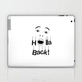 Holla Back - White Laptop & iPad Skin