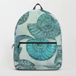 Shimmering Underwater Shell Scenery Aqua Colors Backpack