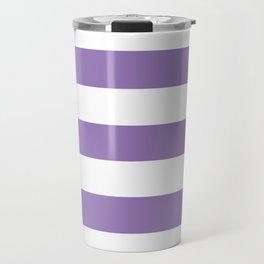 Purple mountain majesty - solid color - white stripes pattern Travel Mug
