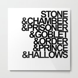 Harry Potter Ampersand Metal Print