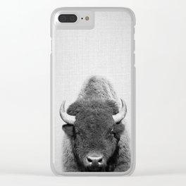 Buffalo - Black & White Clear iPhone Case