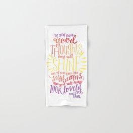 You Will Always Look Lovely [Roald Dahl] Hand & Bath Towel