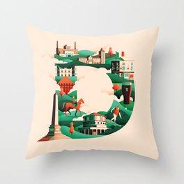 Wanderlust Alphabet – D is for Dublin Throw Pillow