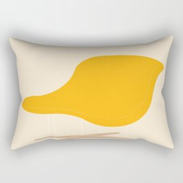 Yellow La Chaise Chair by Charles & Ray Eames Rectangular Pillow