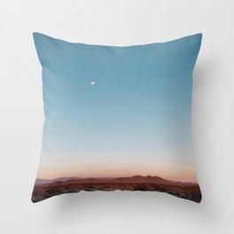 Desert Sky with Harvest Moon Throw Pillow