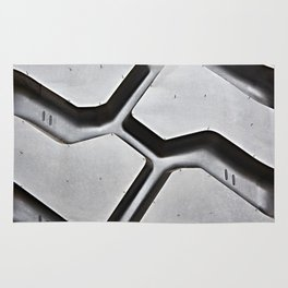 Black rubber tire background Rug