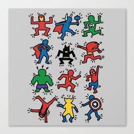 Keith Superheroes Canvas Print