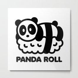Panda Roll Bambu Brand Sushi Metal Print