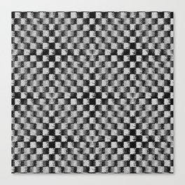 Edgy Checker (in shades of grey) Canvas Print