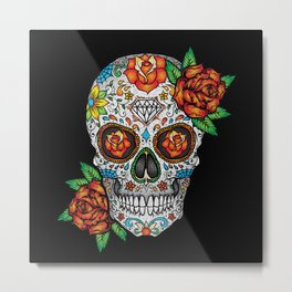 Sugar Skull, Day Of The Dead Metal Print
