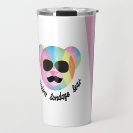 Punk Rainbow Bondage Bear 2.0 Travel Mug