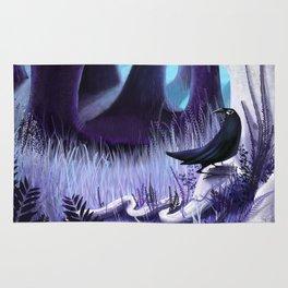 The Ostragon Woodlands Where Bright Ravens Watch Rug