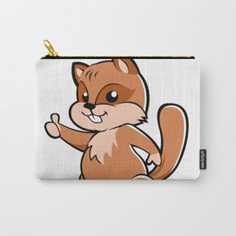 Cute cartoon squirrel. Carry-All Pouch